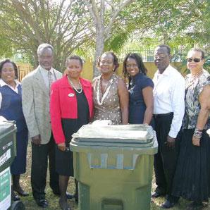 Garbage bin donation